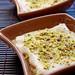 Cardamon n saffron infused cream bread pudding