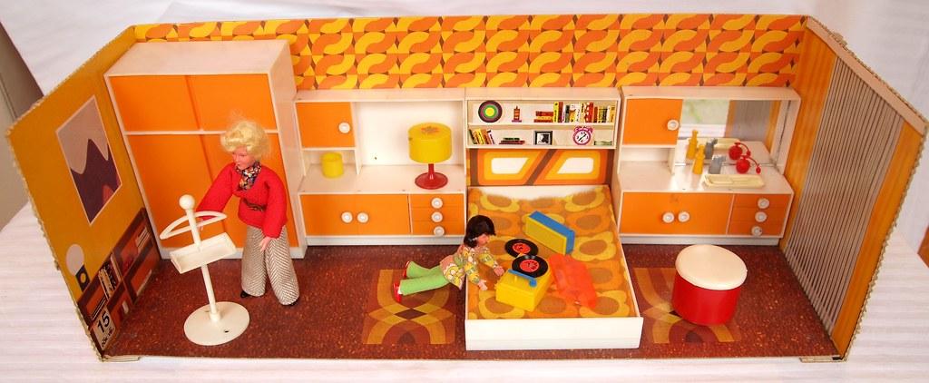1972 Modella Schlafzimmer Fast Nur Die Farbe Orange Viele Flickr