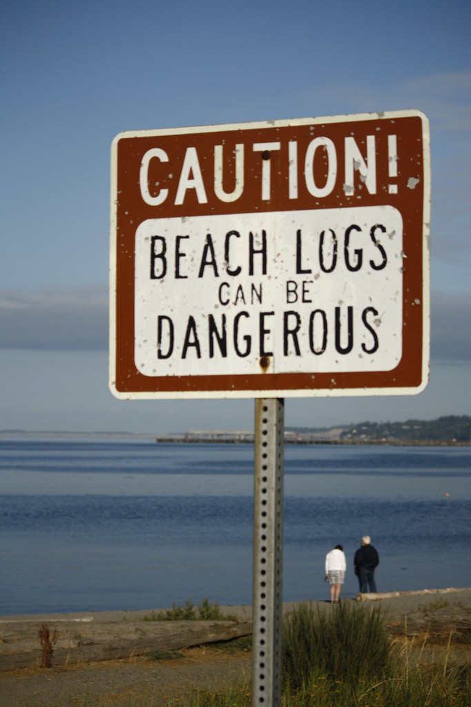 Beach logs can be dangerous - Port Angeles