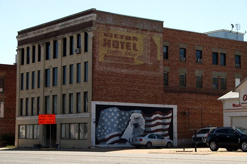victor hotel ghost and america mural | by Exquisitely Bored in Nacogdoches