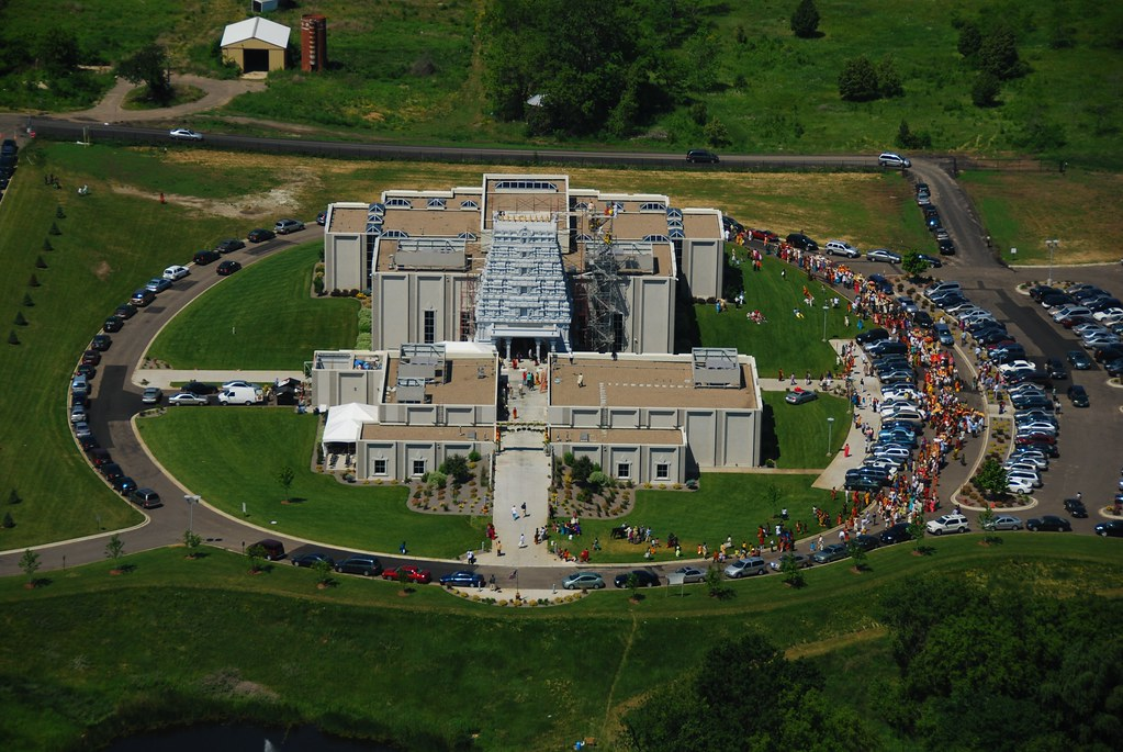 Photo Temple Opening Maple Grove Mn Aerial View Of