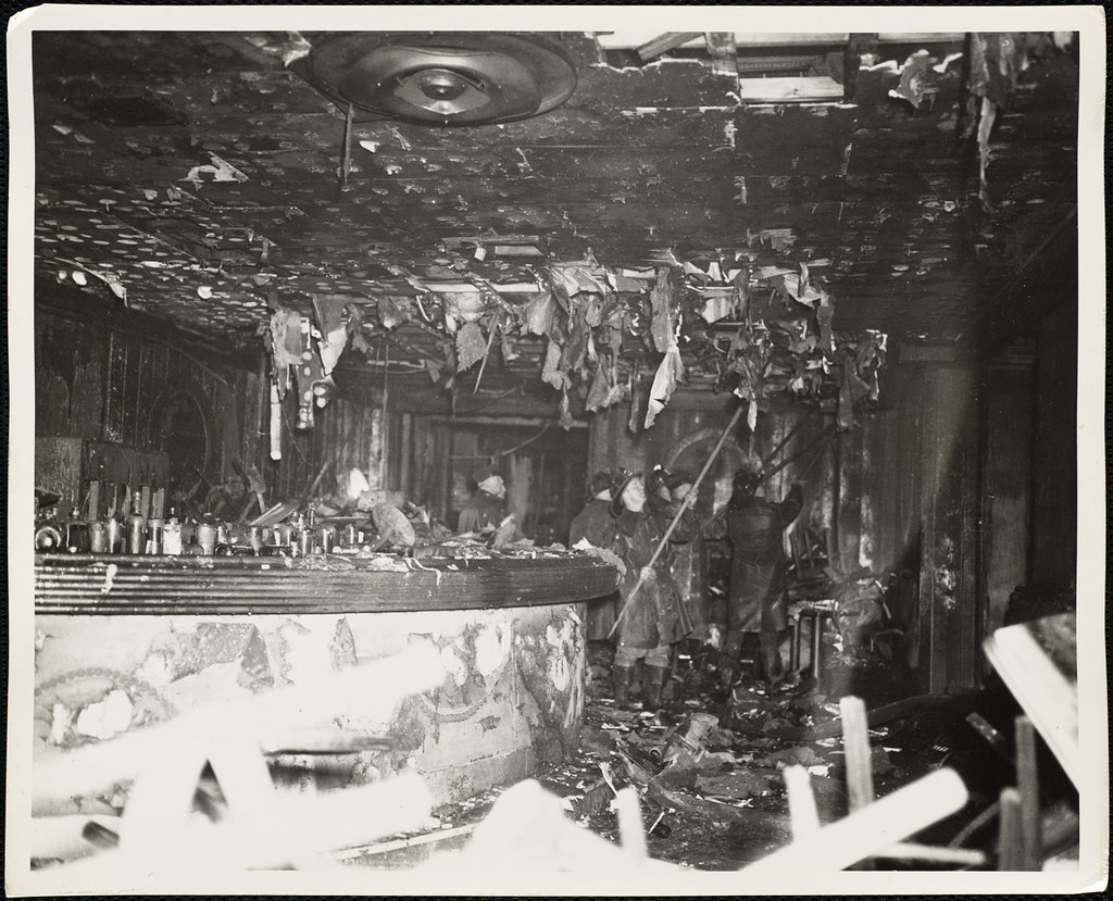 the coconut grove fire incident A huge fire at the cocoanut grove night club in boston killed 492 people in  in  the club that night, the incident did result in additional personal hardship to the.