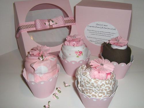 Baby Girl Cupcake Cake