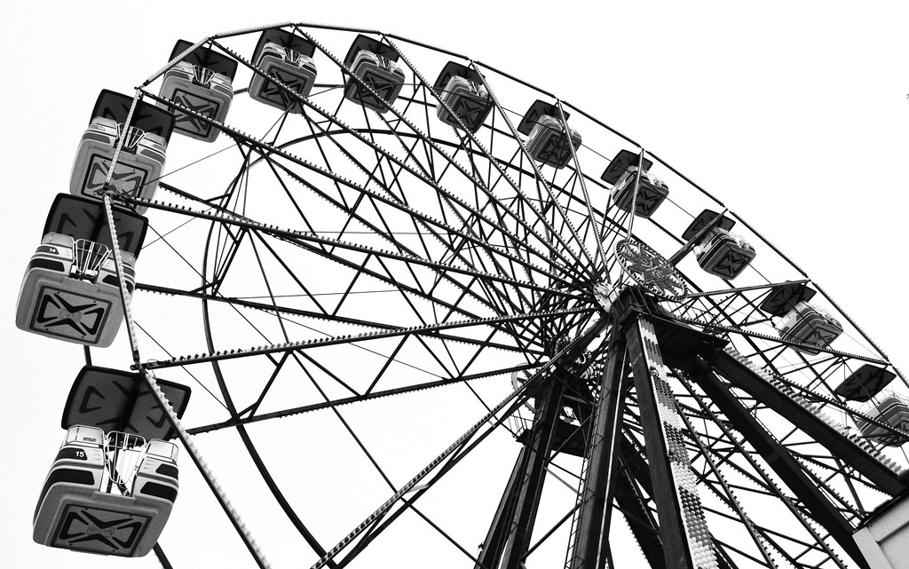 Ferris Wheel Photography Black And White Ferris Wheel in Black And