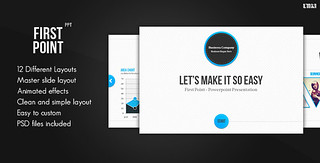 First Point PowerPoint Presentation Template | by the_fafa