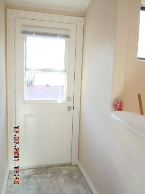 Old Bathroom Exterior Door We Closed This Door Off And