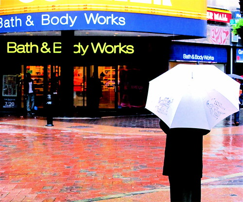 boston downtown crossing rain umbrella | by photographynatalia