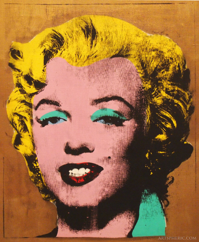 Andy Warhol Gold Marylin Monroe Zoom In 1962 Gold