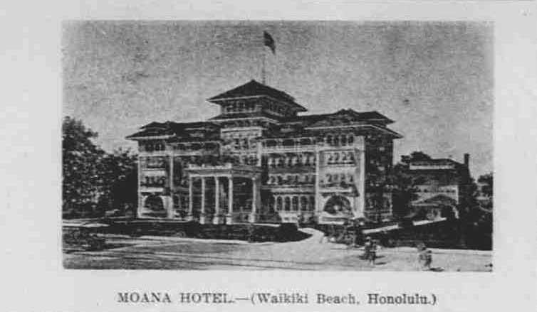 moana hotel  waikiki beach  honolulu