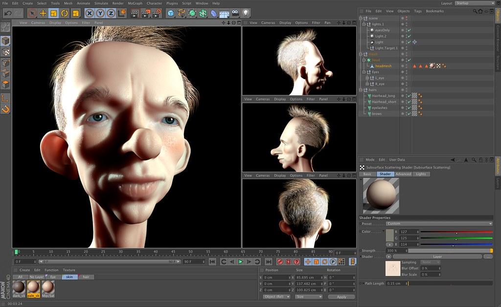 Maxon cinema 4d r13 screenshot v05 creative tools for Software 3d gratis