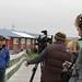 Nelson Kanuk filming with iMatter in Kipnuk, Alaksa
