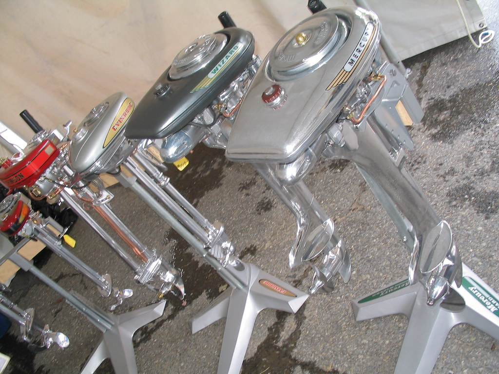 Restored Outboard Motors Look At That Chrome Natural Born Dealers Flickr