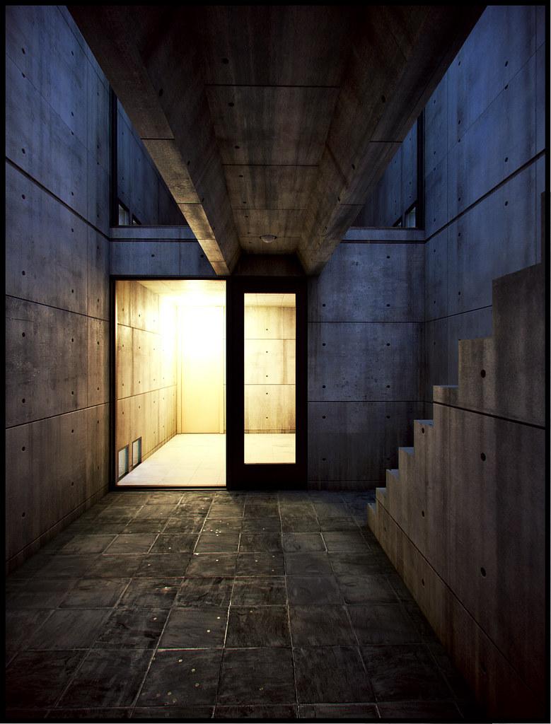 Azuma house architect tadao ando 1975 1976 one of the for Interior 1 arquitectura