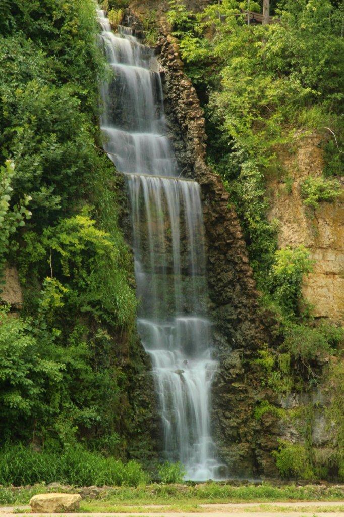 Waterfalls At Krape Park Freeport Il 2 Mike Kohlbauer