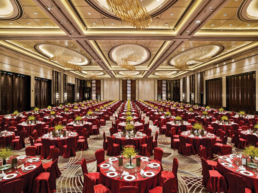 Grand Shanghai Ballroom Chinese Style Banquet Set Up