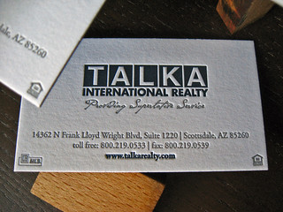 Talka Realty Letterpress Cards | by dolcepress