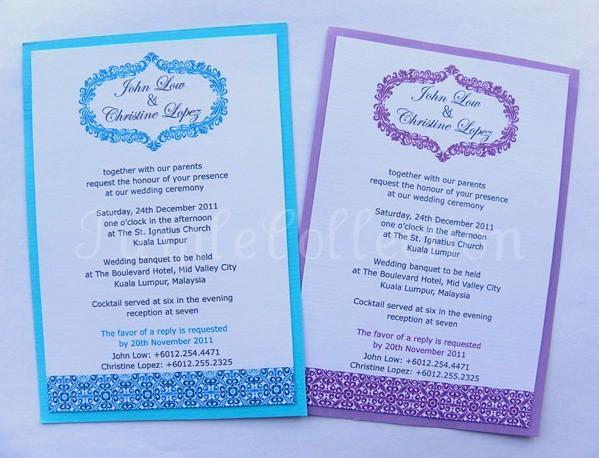 Purple And Blue Wedding Invitations: Blue & Purple Wedding