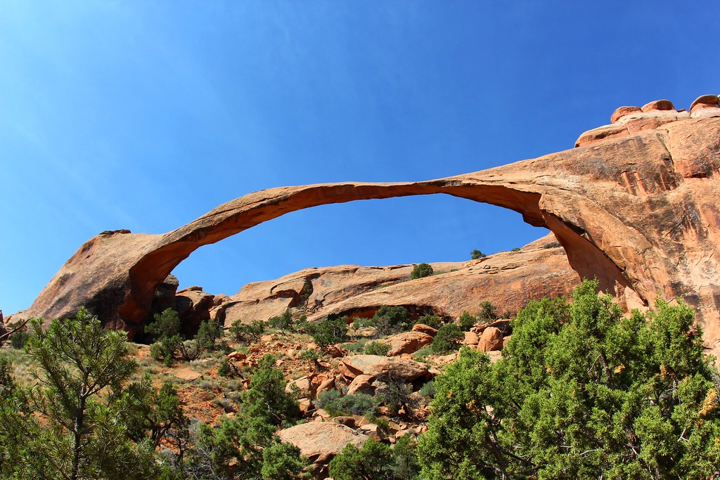 landscape arch  arches national park