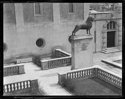 Cambridge - statue of lion at German Museum | by Boston Public Library