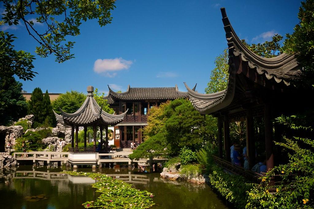 Upswept Lan Su Chinese Garden Portland Or Graham