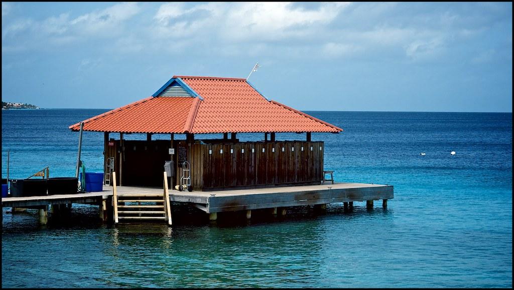 Divi flamingo dive pier this is where the scuba diving sta flickr - Dive e divi ...