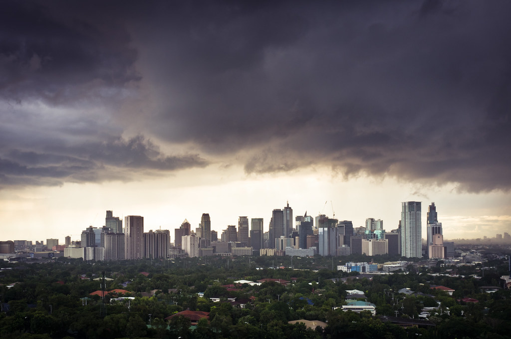 Storm Over Makati The Makati Skyline About 20 Minutes