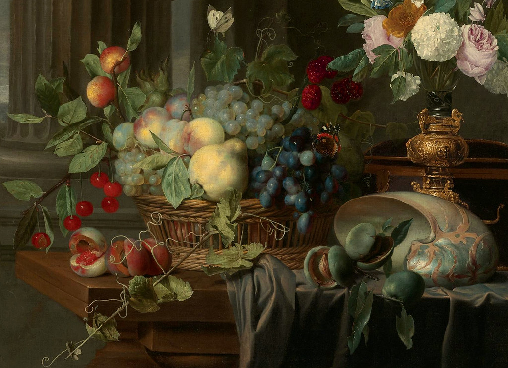 Carstian Luyckx Quot Still Life Of A Basket Of Fruit Flowers Flickr