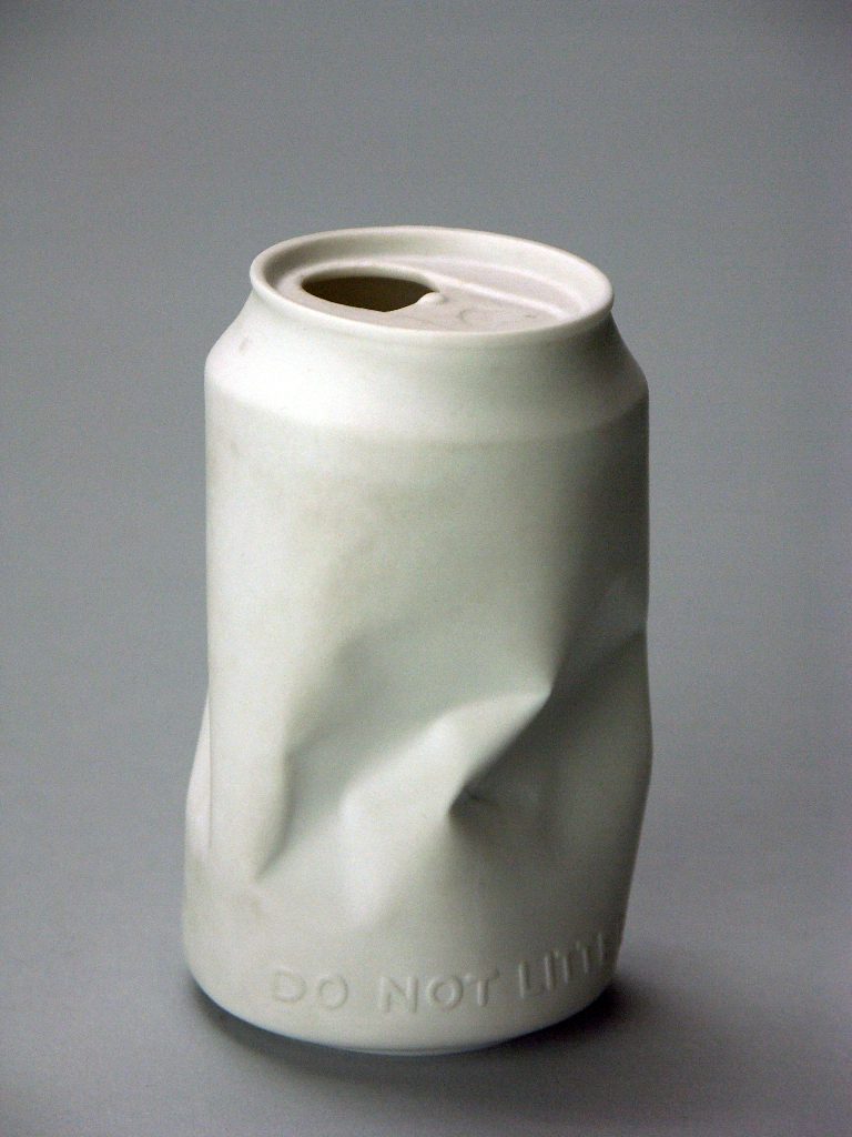 Rosenthal Porcelain Co.  Crushed Can, c. 1970; Made in Germ  Flickr