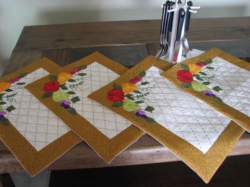 Individuales para mesa acolchados a mano y con aplique de flickr - Individuales para mesa ...