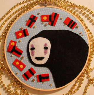 No Face Embroidery Hoop | by loveandasandwich