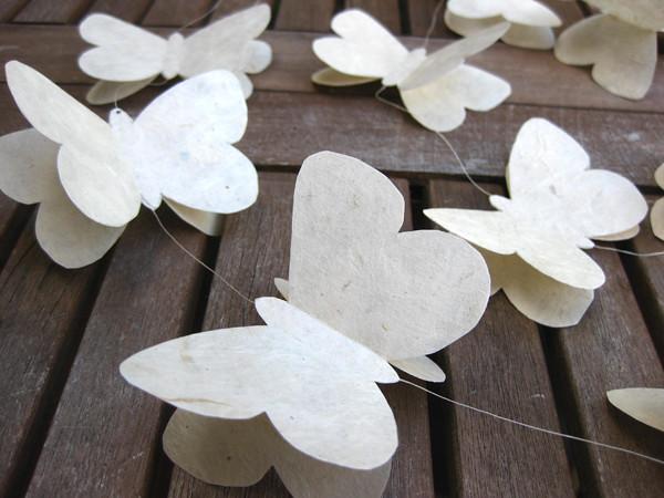 Lokta paper butterflies karen jinks design flickr for White paper butterflies