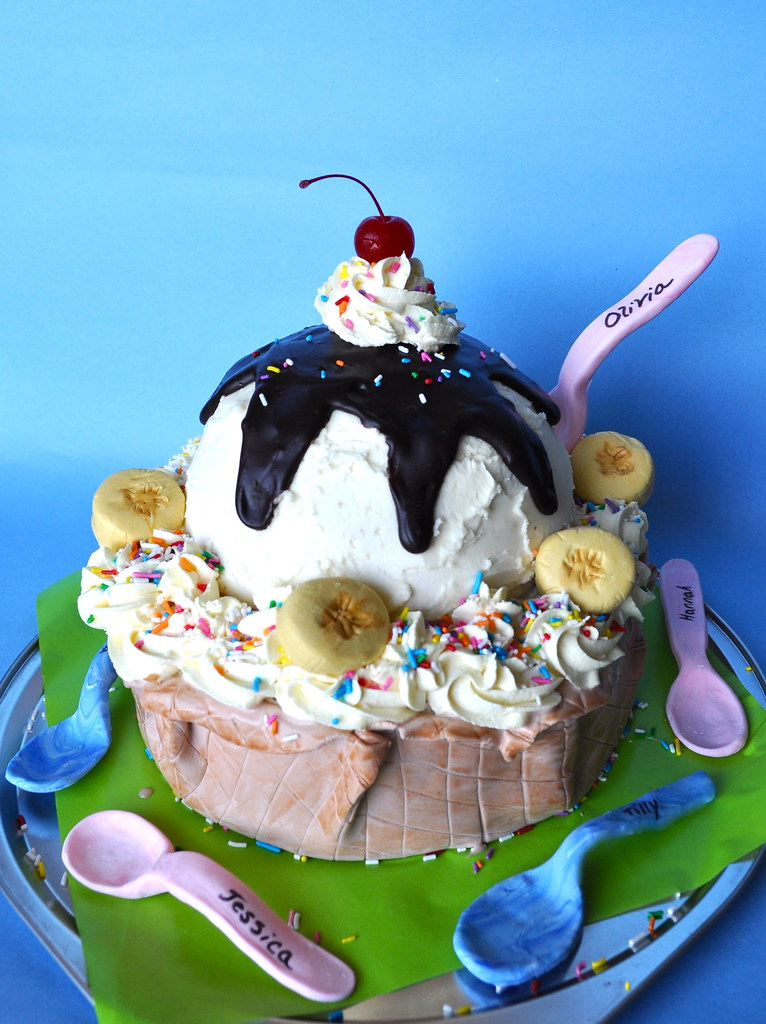 Sundae Cone Cake