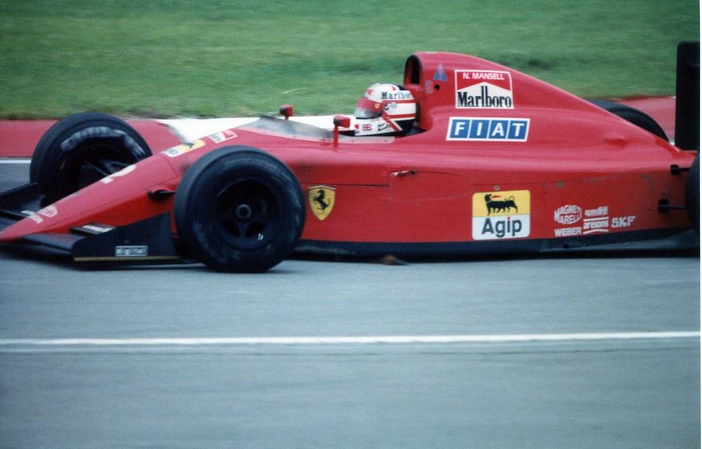 1990 F1 Canada Nigel Mansell In The Ferrari 1990