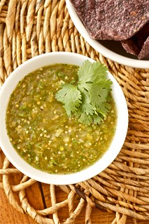 Roasted Tomatillo Salsa [Salsa Verde] | by Smells Like Home
