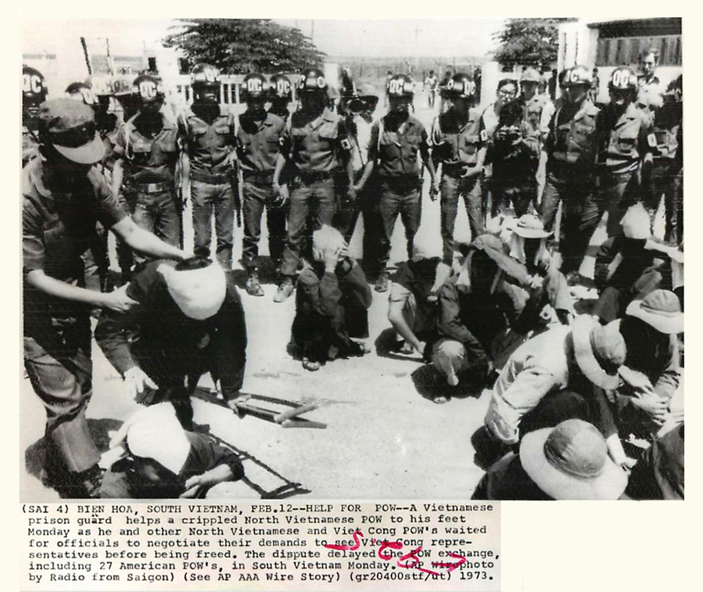 Vietnamese Prison Guards Shown With North Vietnames