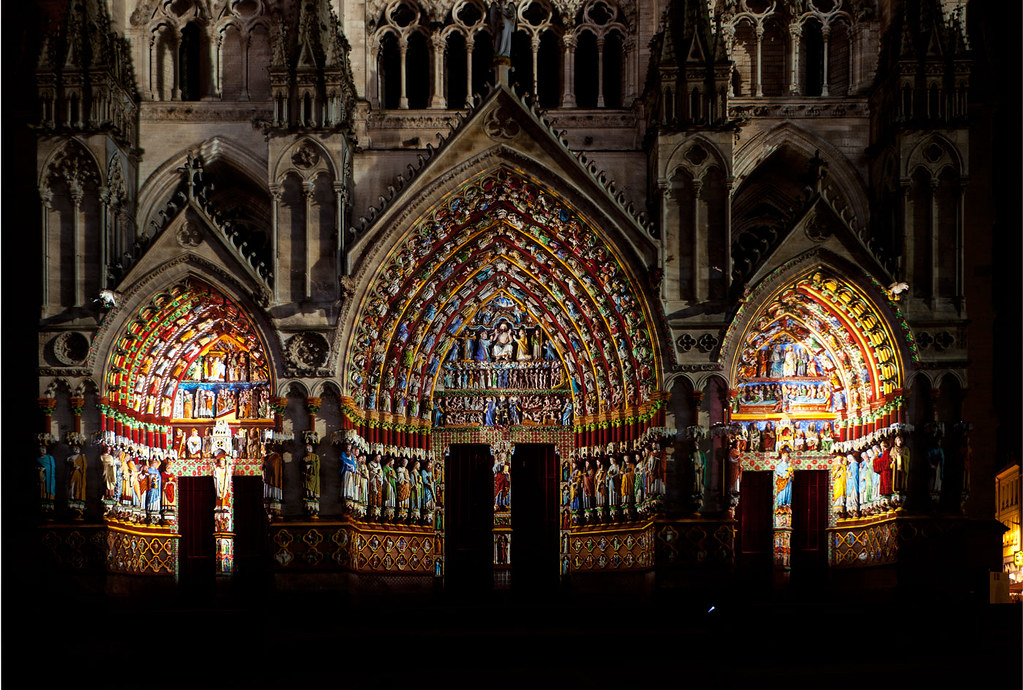 sound and light cath drale notre dame amiens france. Black Bedroom Furniture Sets. Home Design Ideas