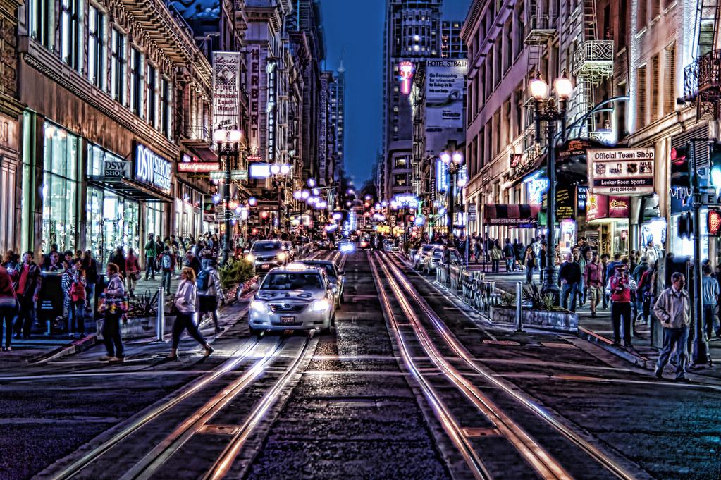 Powell Street - San Francisco | Nikon D700/50mm f1.4 HDR ton ...