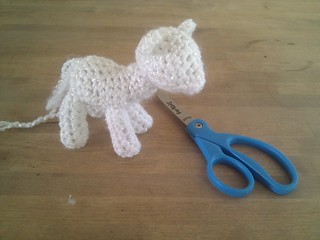Incomplete crocheted My Little Pony | by Terriko