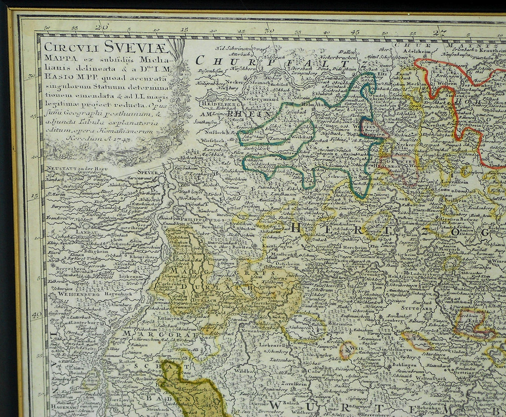 Southwest Germany 1745 Detail Detail Of A 1745 Map Of Flickr