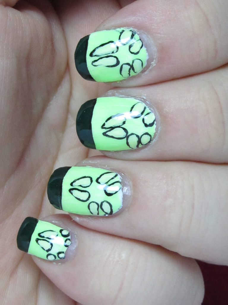 Cucumberrific 02 | All-acrylic paint nail art inspired by ...