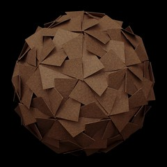 Canson paper slotted sphere