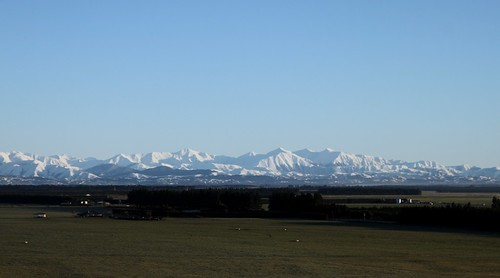 Canterbury Plains and Southern Alps. Photo taken at Bankside, Canterbury, New Zealand | by brian nz