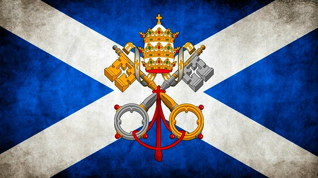 Scottish Roman Catholic Flag