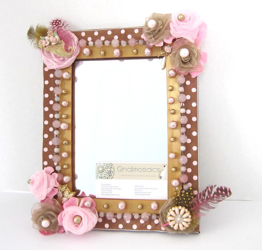 pink and brown photo frame handmade | gina argyrou | Flickr