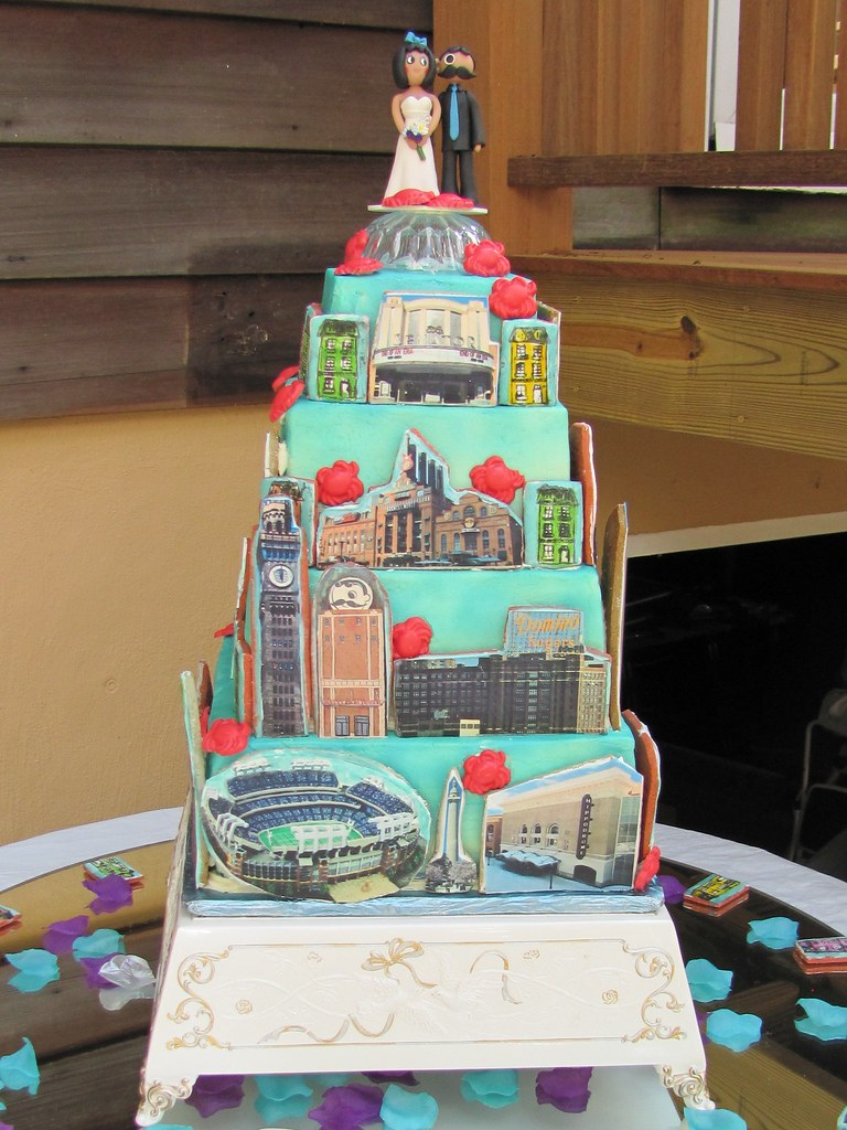 baltimore skyline wedding cake 9 10 11 four tier wedding c flickr