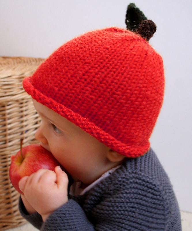 c356e0c0907 ... Apple Hand knit Beanie