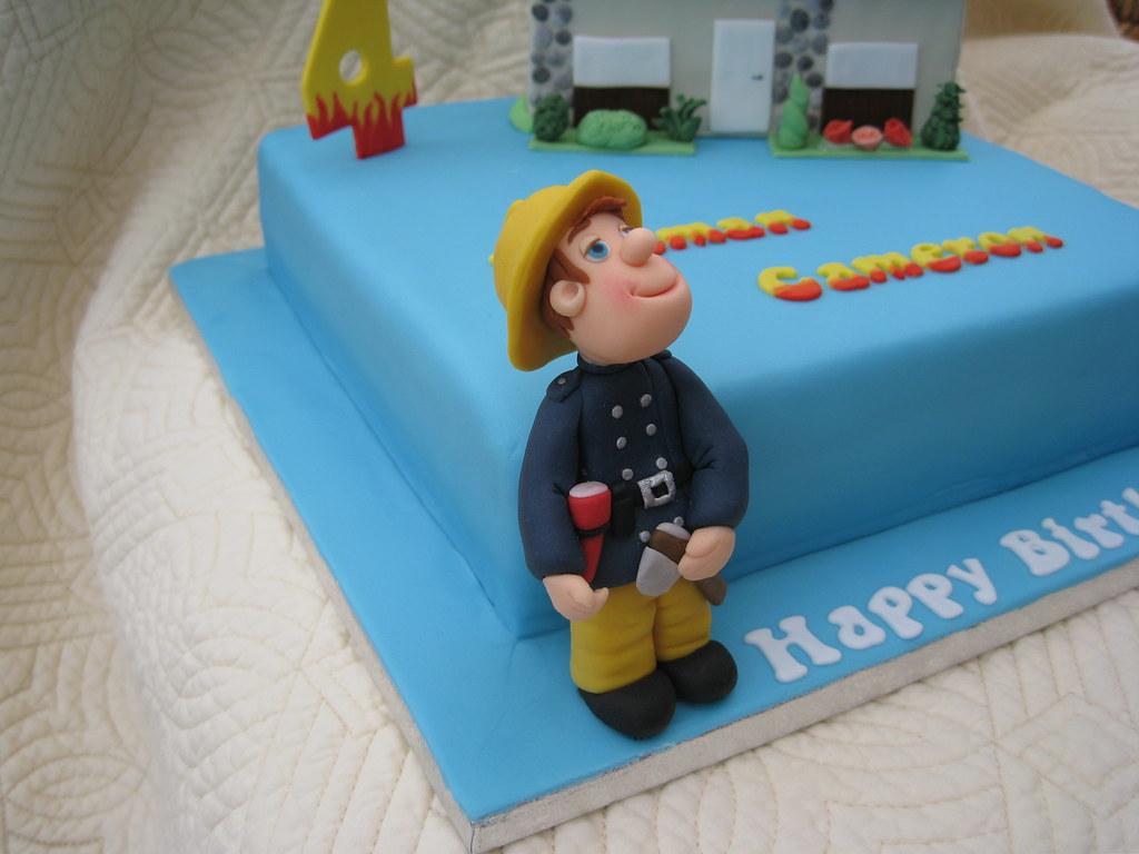 Fireman Sam Birthday Cake Fireman Sam Made From Sugarpaste Flickr