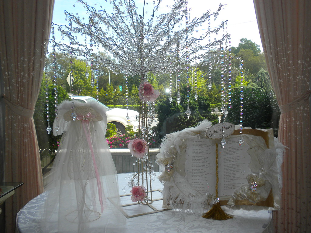 Christening centerpiece crystal seating ch