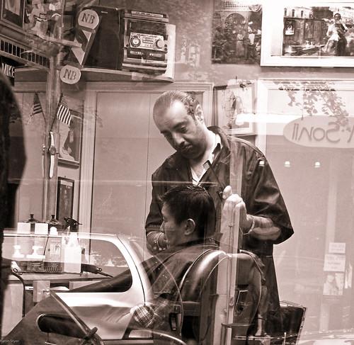 barber shop window i love peeking in barber shop windows flickr. Black Bedroom Furniture Sets. Home Design Ideas