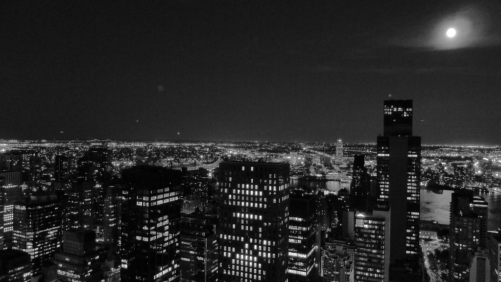 city lights black and white - photo #4